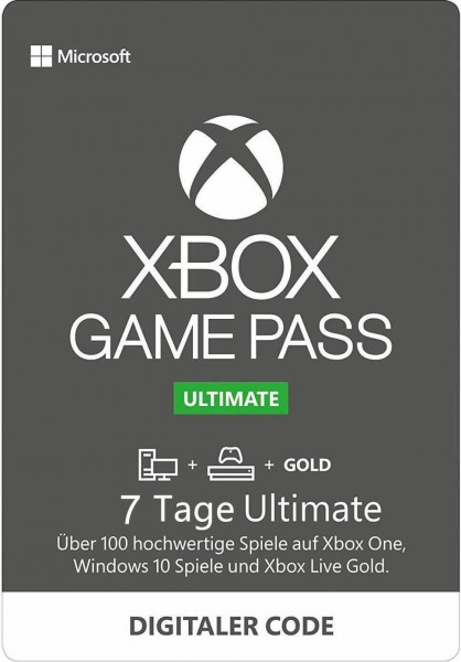 Xbox Game Pass Ultimate – 7 Tage – (EU) (Xbox One/ Windows 10)