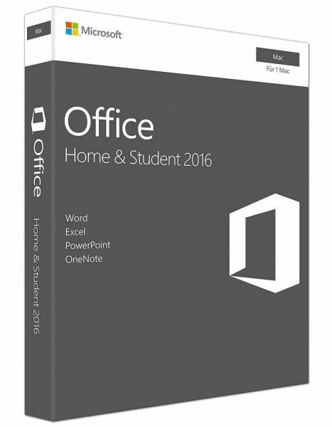 Microsoft Office 2016 Home & Student MAC (PKC Box) (deutsch)
