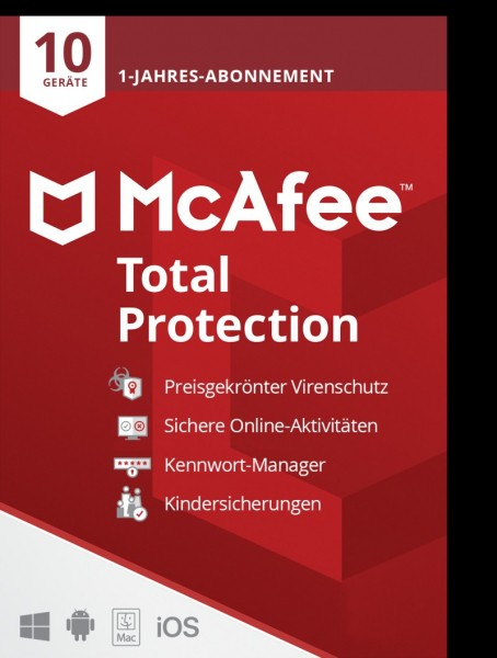 McAfee Total Protection (Windows, Mac, iOS & Android)