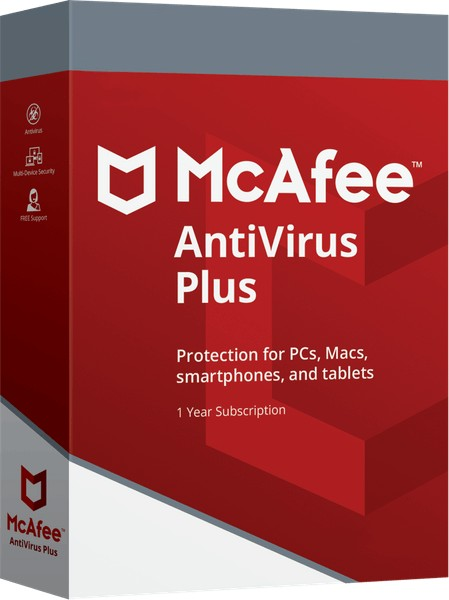 McAfee Antivirus Plus (Windows, Mac, iOS & Android)