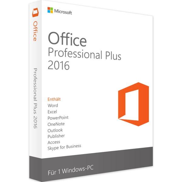 Microsoft Office 2016 Professional Plus (Audit-Sicher)