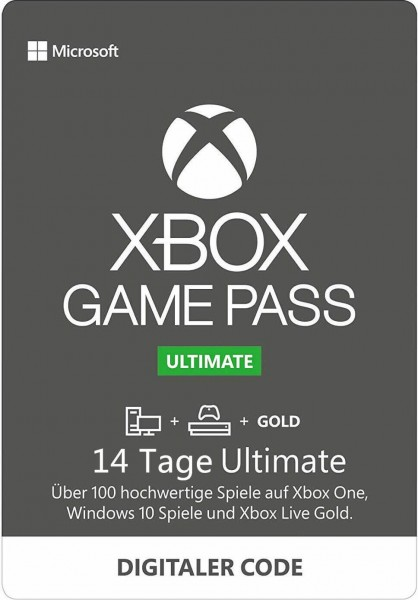 Xbox Game Pass Ultimate – 14 Tage – (EU) (Xbox One/ Windows 10)