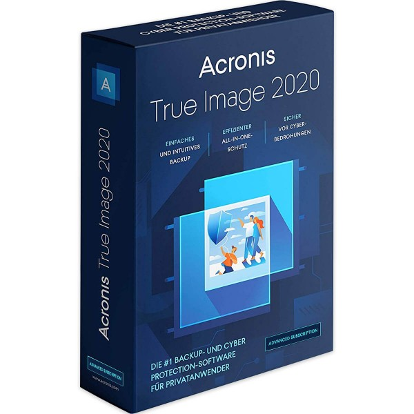 Acronis True Image 2020 Advanced (1 Gerät - 1 Jahr) + 250 GB Acronis Cloud Storage PC/MAC ESD